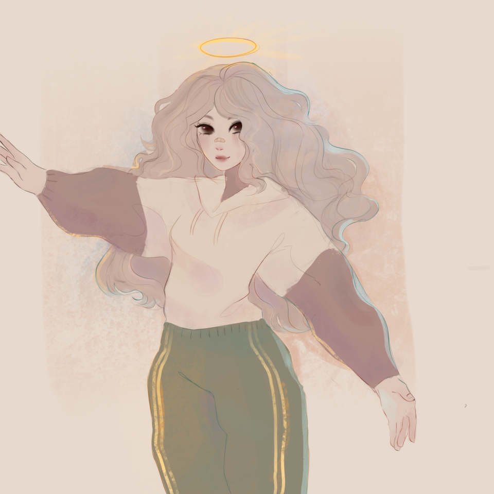 art trade :P Illust of h o ɳ e y d e w ☻︎ torso angel trade