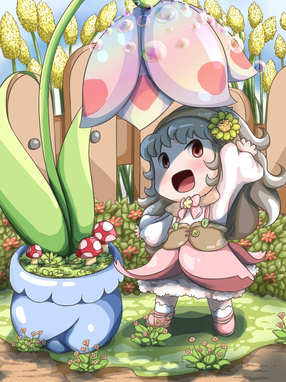 花开 Illust of 猫雨 April2021_Flower girl