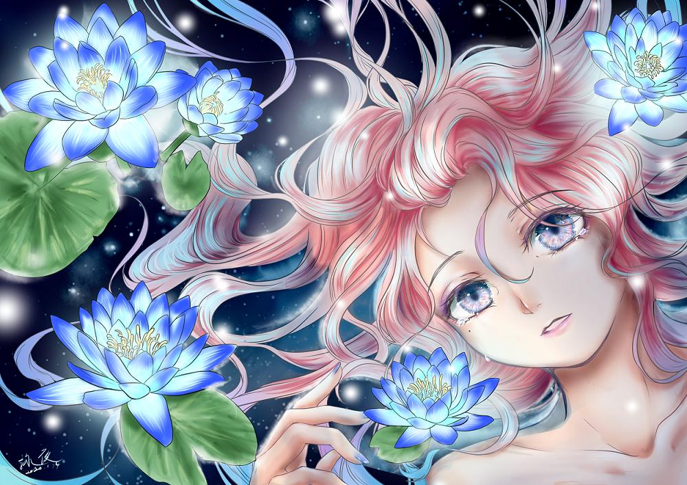 無題 Illust of 詠夜 original girl 無題 illustration flower