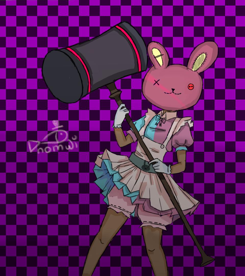 bunny Illust of nomjie August2020_Contest:Horror bunny girl digital