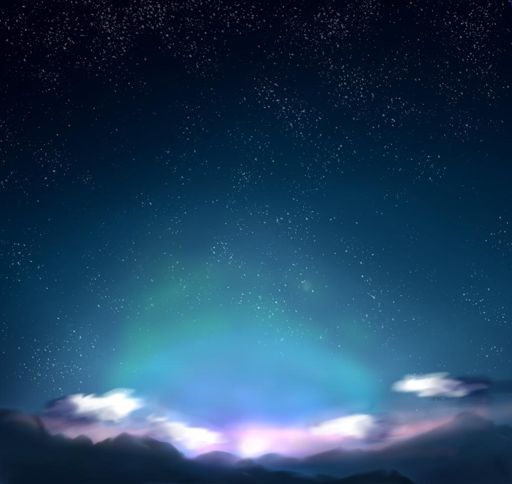 練習 楽しいな Illust of 如月来蕾 medibangpaint space star 朝日 original 風景画 practice