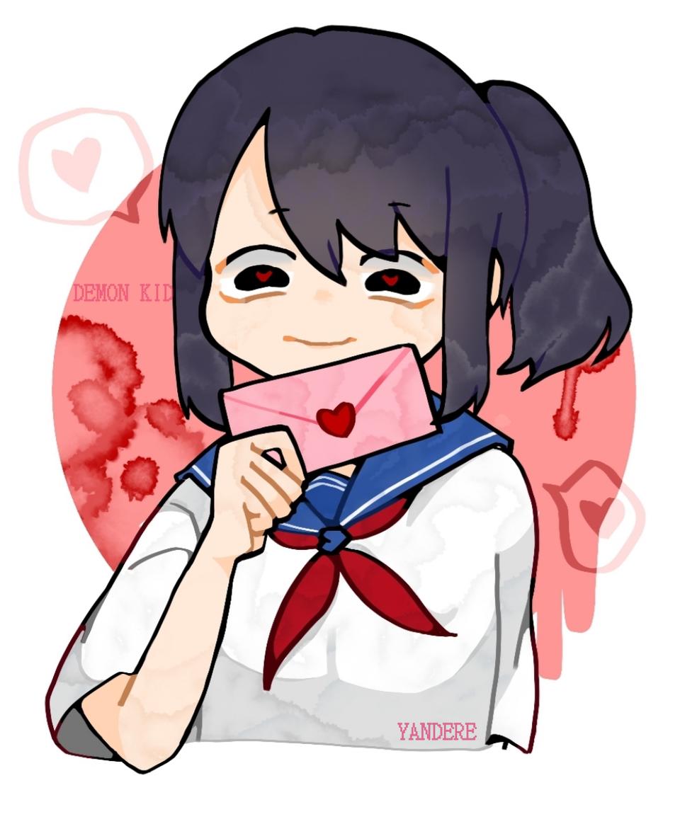 Yandere Simulator Illust of Demon KID school YandereSimulatorFanArtContest medibangpaint fanart painting love uniform girl