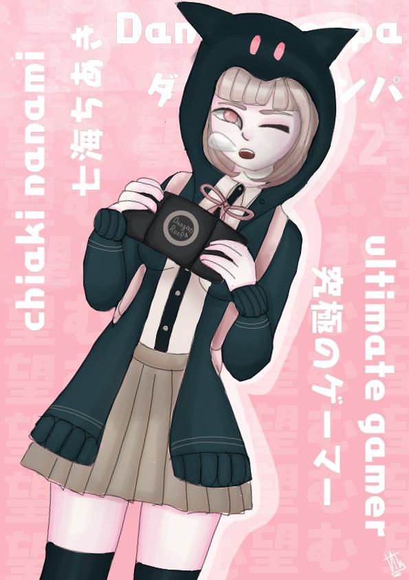 Chiaki Nanami  Danganronpa Illust of 𝕍𝕀𝕋𝔸🖌 medibangpaint 七海千秋 Danganronpa