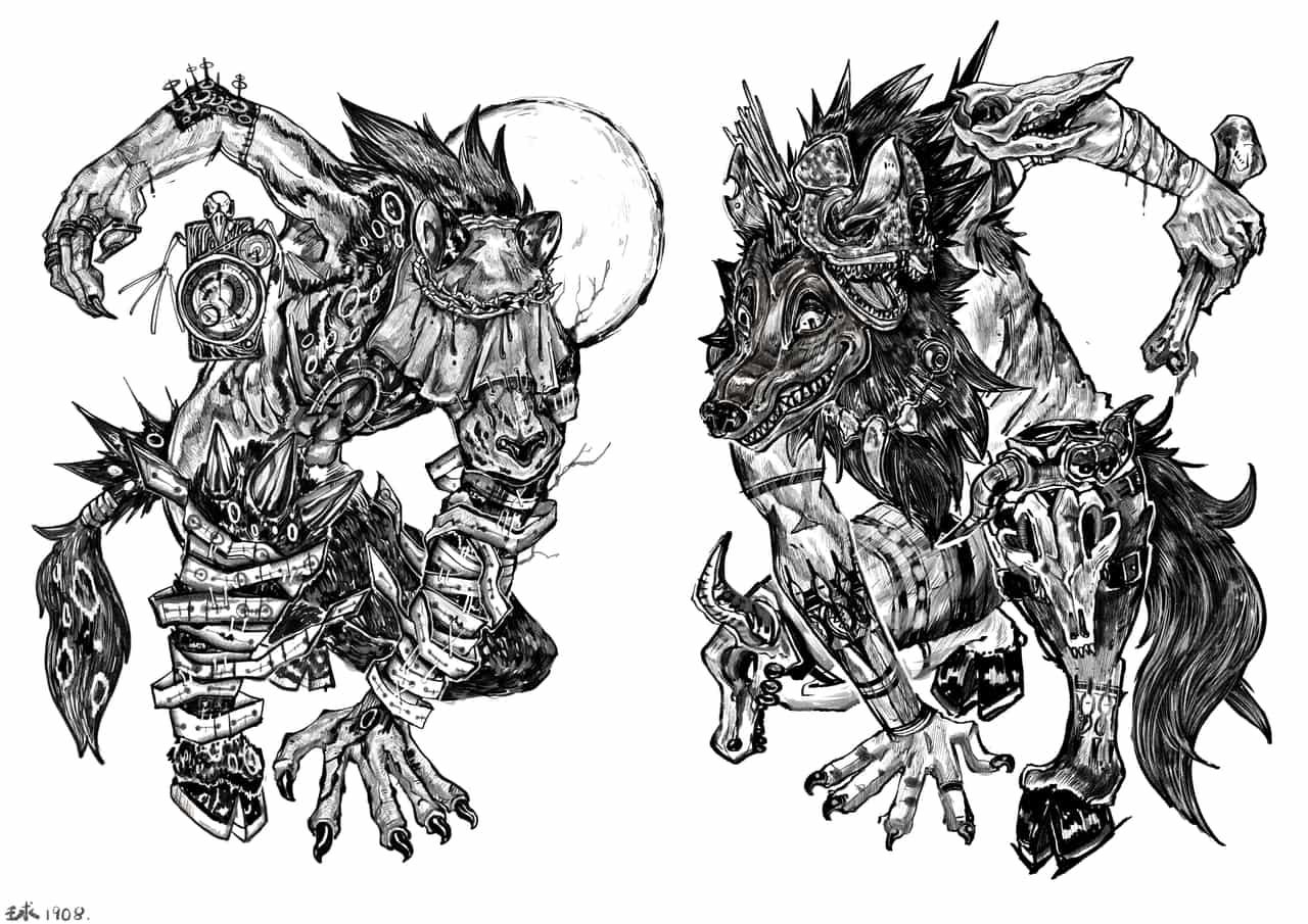Door god Illust of 球體 September2020_Contest:Furry