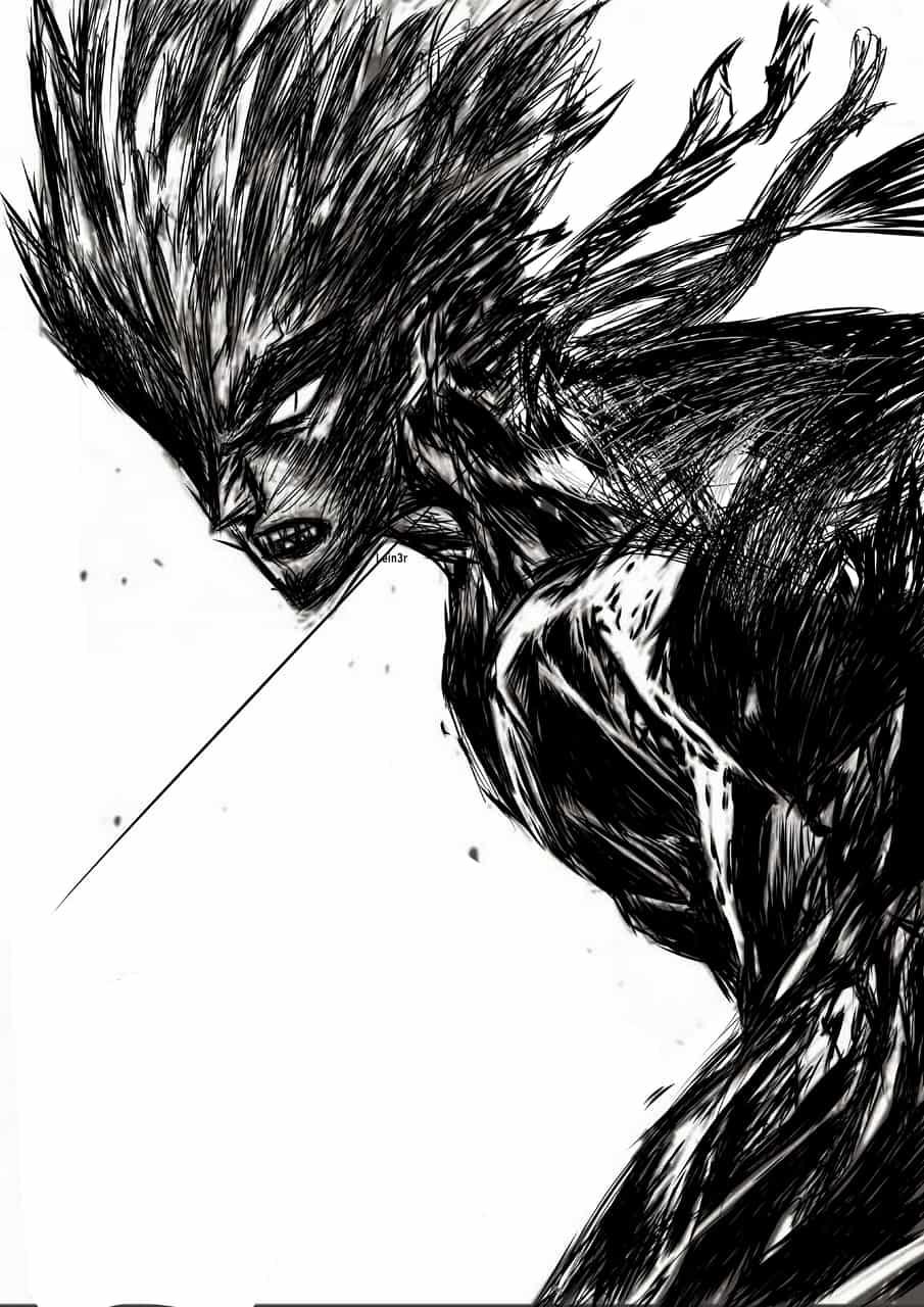 OnePunchMan (ワンパンマン) - Garou Illust of LRahier boy line_art Noob garou One-PunchMan manga mangastyle blackandwhite