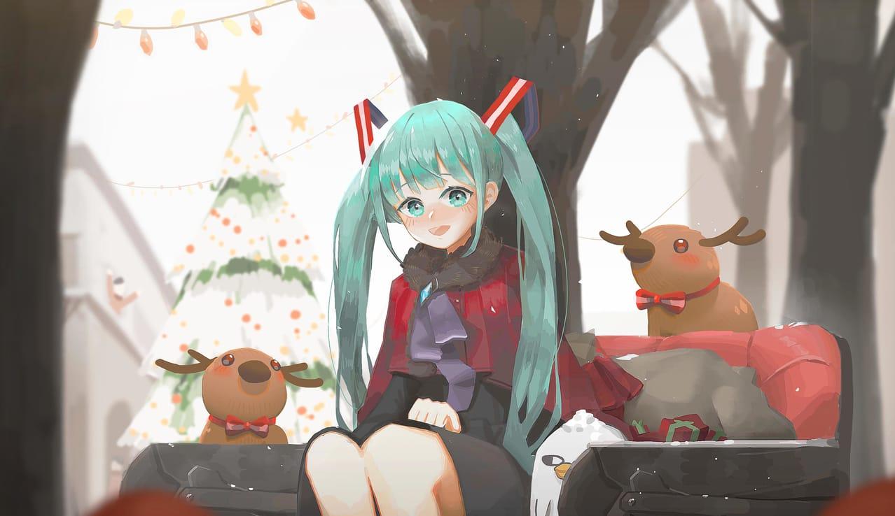 初報音訊~ Illust of 阿miba Christmas hatsunemiku 女の子かわいい