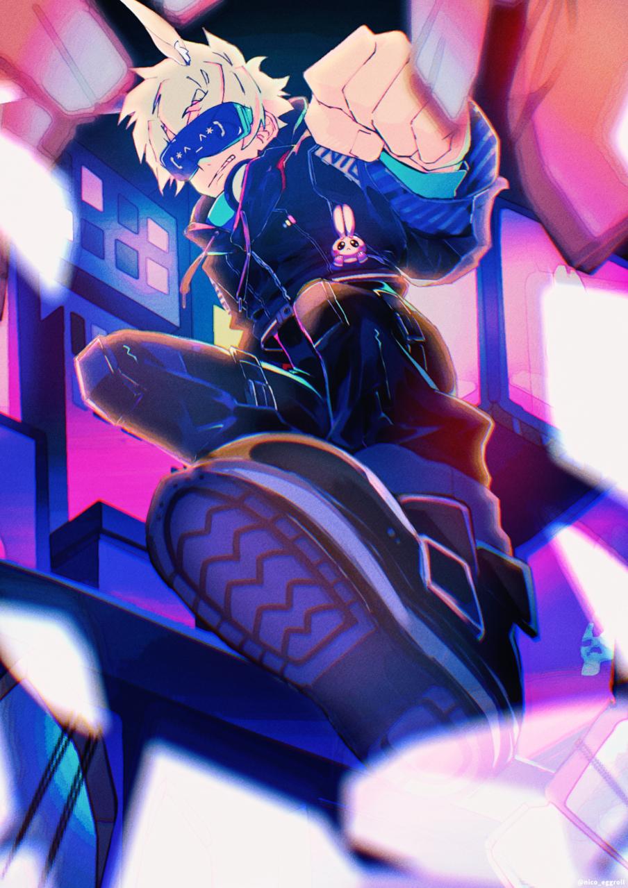 Rabbit Illust of eggroll☆ November2020_Contest:Cyberpunk ibispaint illustration original