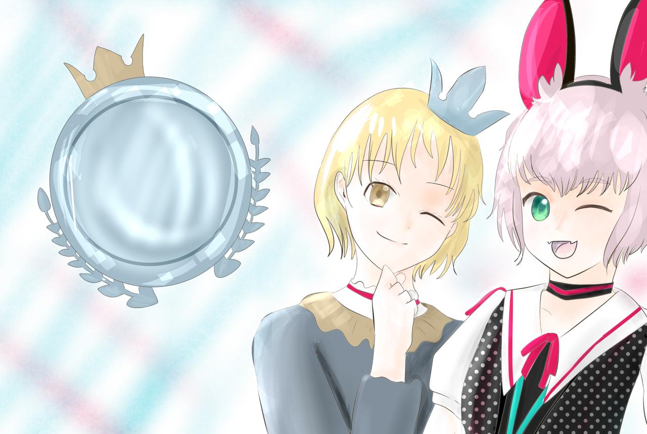 女の子とメィミちゃん Illust of Mai ART_street_Illustration_Book_Contest oc メィミ