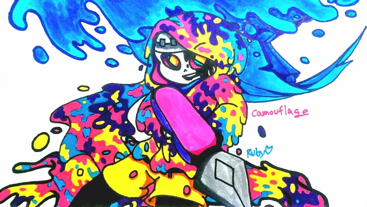 Camouflage Illust of Pai-Paint4234 Sans camouflage