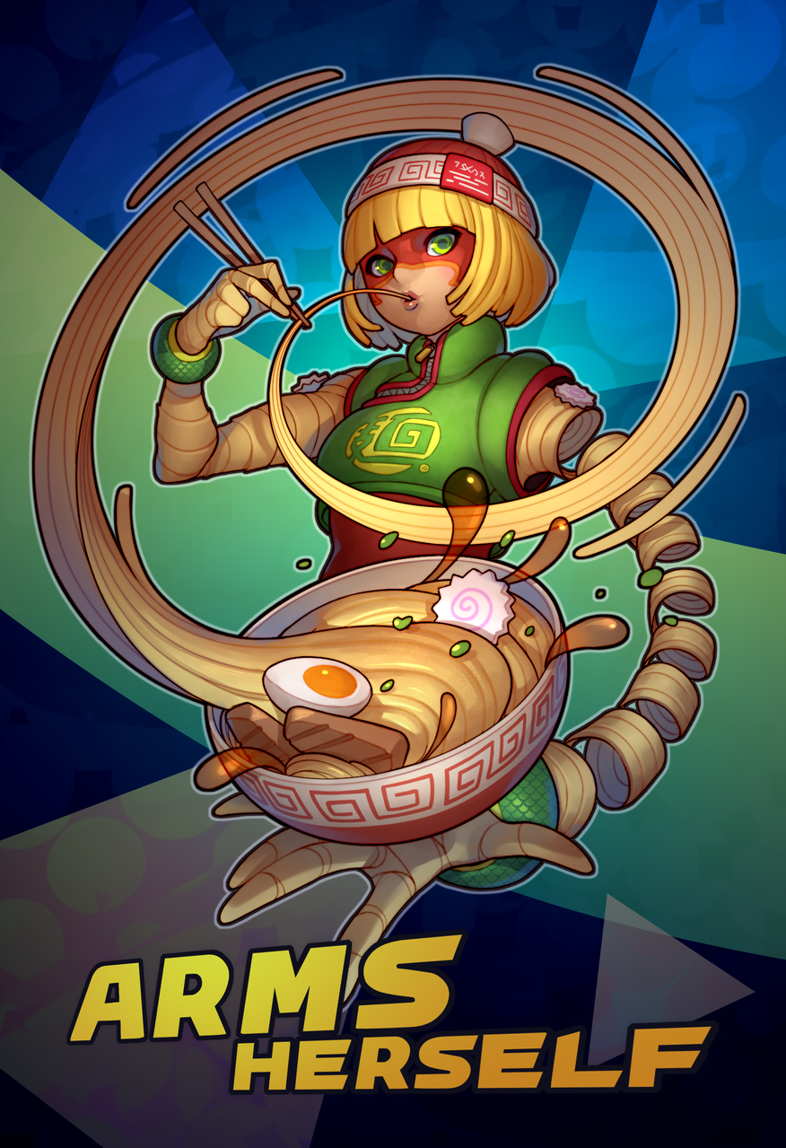 Min Min- Arms Herself Illust of MoDathan cute minmin girl Ramen Nintendo food fanart smash arms videogame