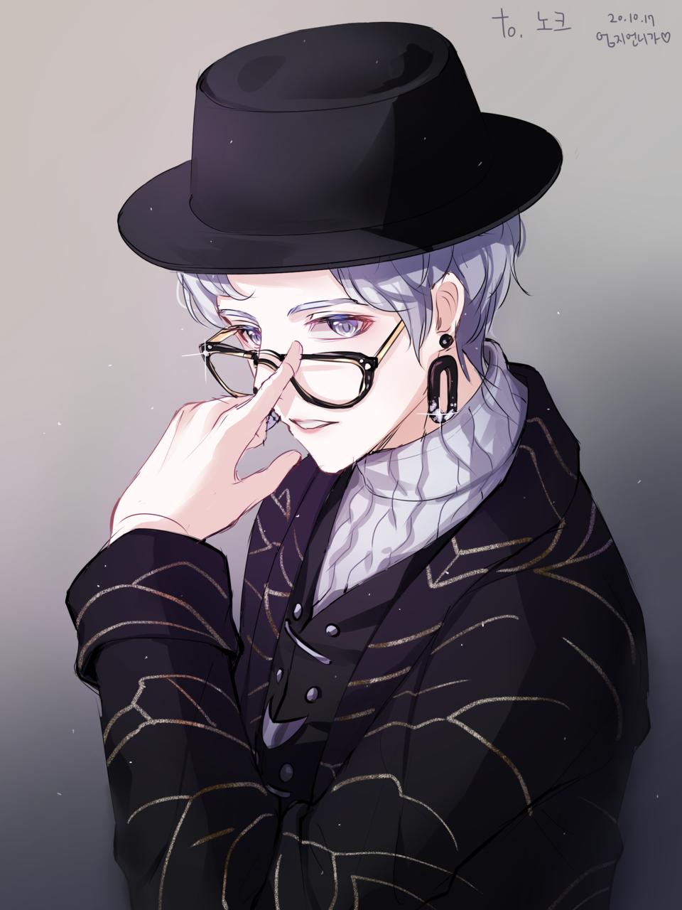 노크님 리퀘 Illust of 엄지손가락👍 medibangpaint boy glasses 패션
