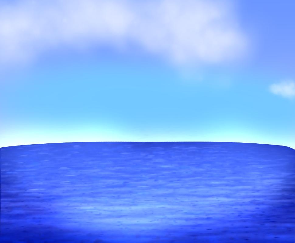 Ocean Illust of jaeheee medibangpaint illustration cloud blue sea ocean sky scenery nature background