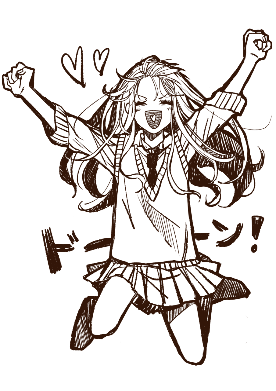 たーまやー!!! Illust of 山田ピピちゃん Digital_Fireworks original medibangpaint