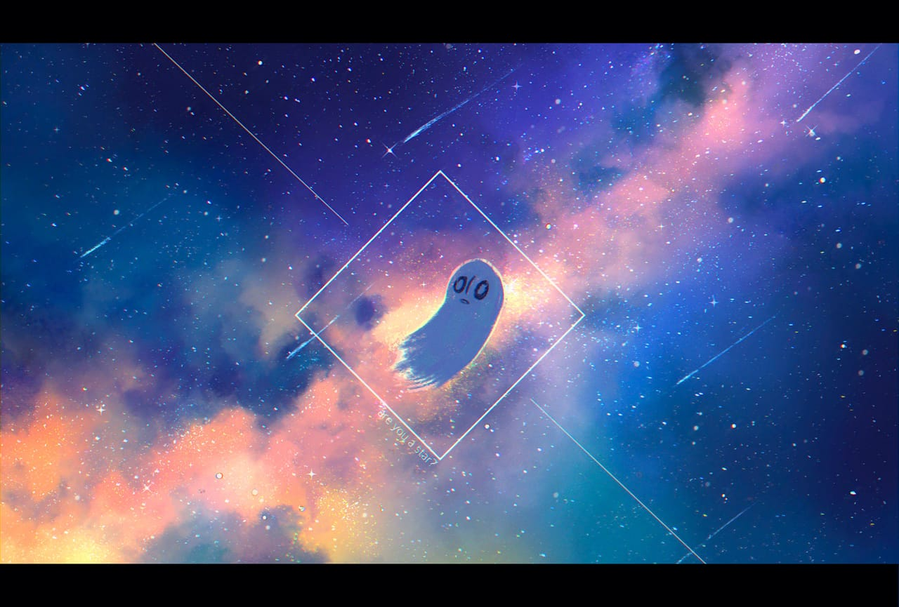 what's a star? Illust of Pai undertale fanart star starry_sky Napstablook