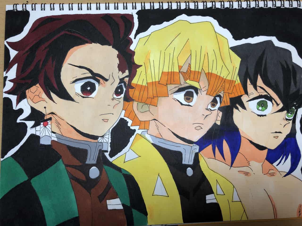 かまぼこ隊3人組 Illust of かずまん DemonSlayerFanartContest KamadoTanjirou KimetsunoYaiba HashibiraInosuke AgatsumaZenitsu