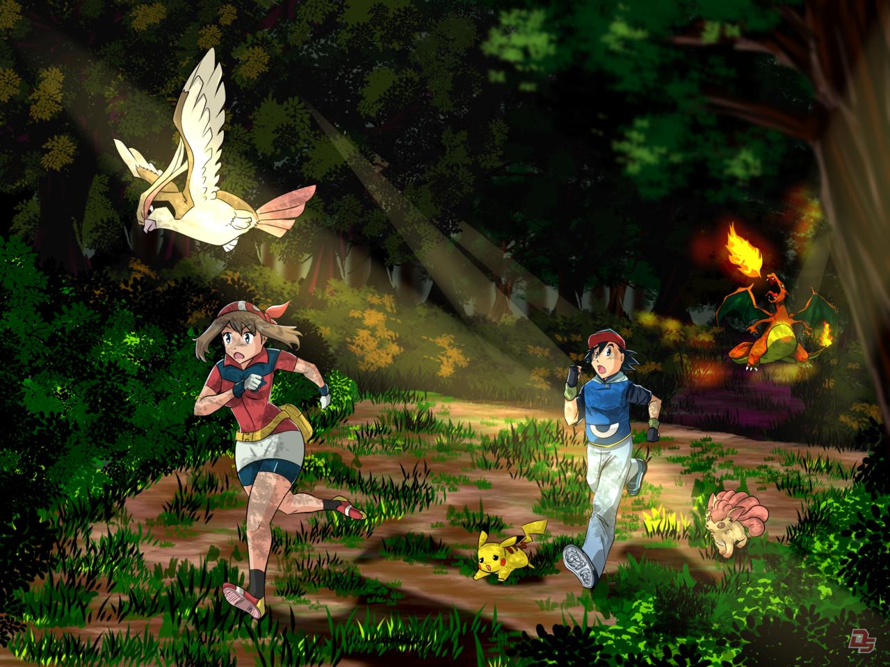 Pokémon Illust of Diego-SSA adventure pokemon anime mangaart kawaii PokémonGO background