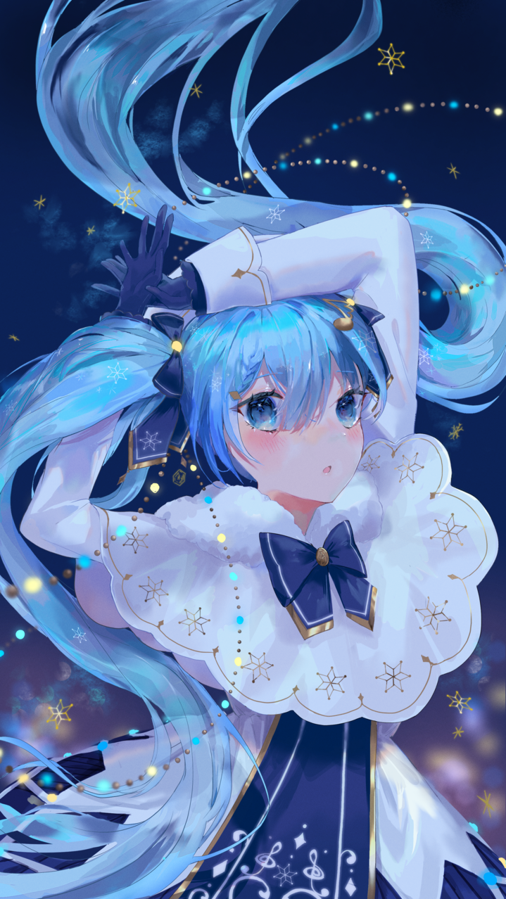 雪ミク Illust of neon VOCALOID fanart illustration hatsunemiku