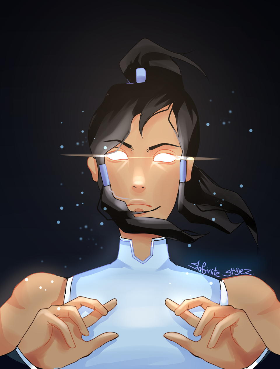 you don't snitch on the avatar... Illust of Infinite stylez medibangpaint elements Avatarstate Legendofkorra korra westernkungfu infinitestylez