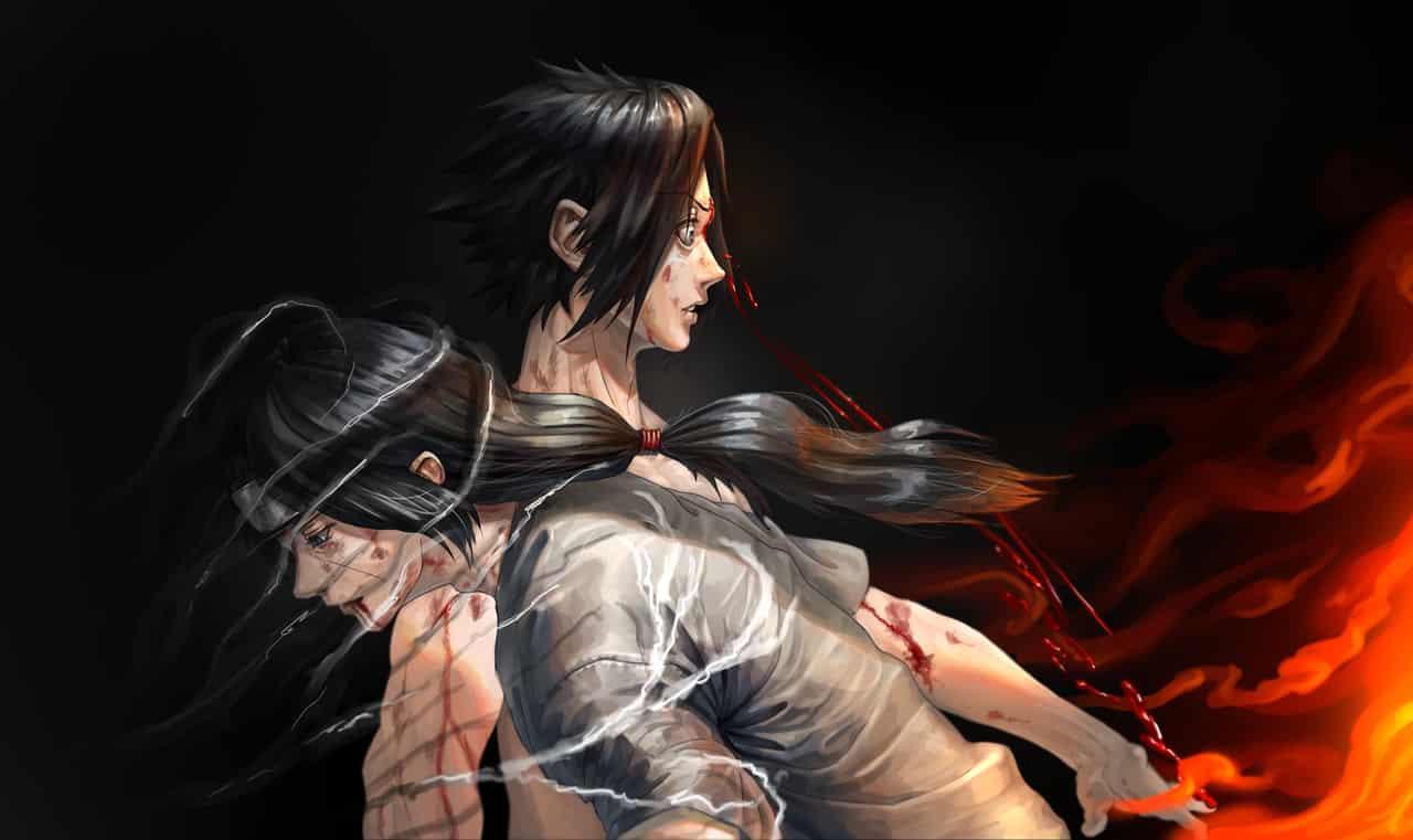 これで...最後だ... Illust of Haru 1stjumpillust UchihaItachi NARUTO UchihaSasuke うちは一族