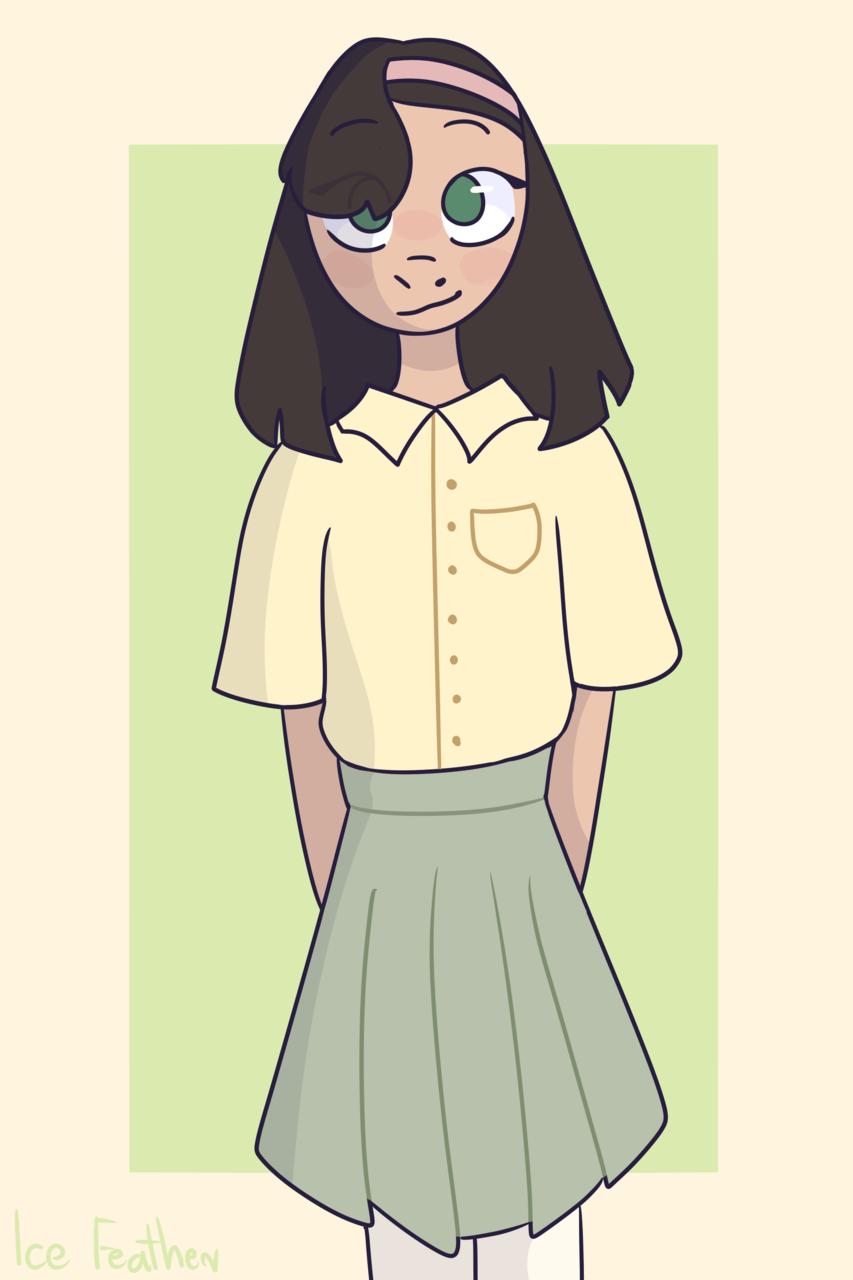 Adopt from Tortellni Illust of Ice Feather illustration IceFeather girl adopt sweet cute drawing naki oc digital
