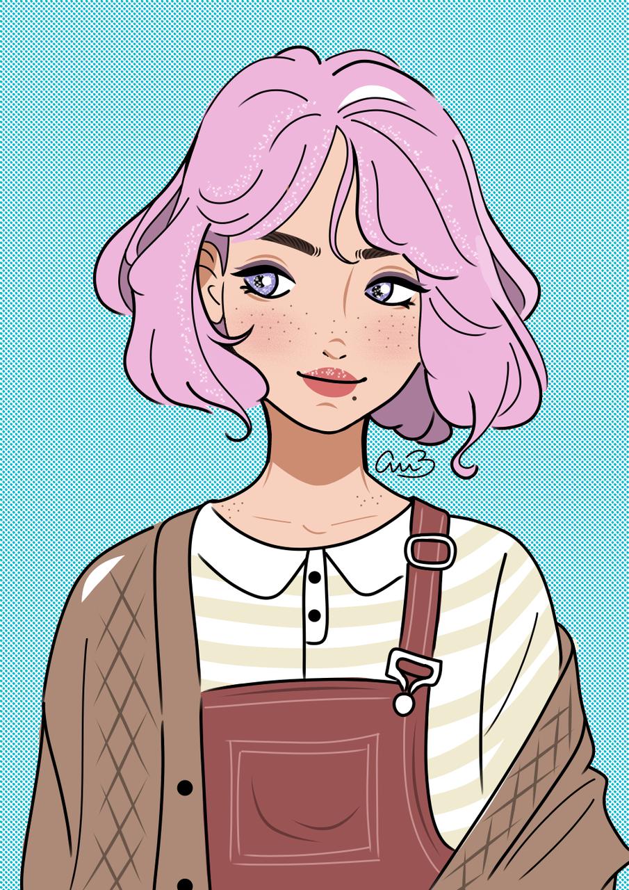 Strawberry Girl Illust of belart medibangpaint illustration girl cute drawing