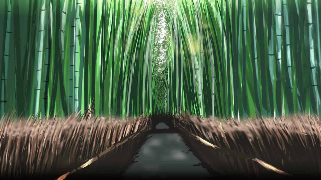 Into The Nature Illust of Hamabe Arts ARTstreet_Ranking illustration forest scenery background art drawing Bamboo nature digital