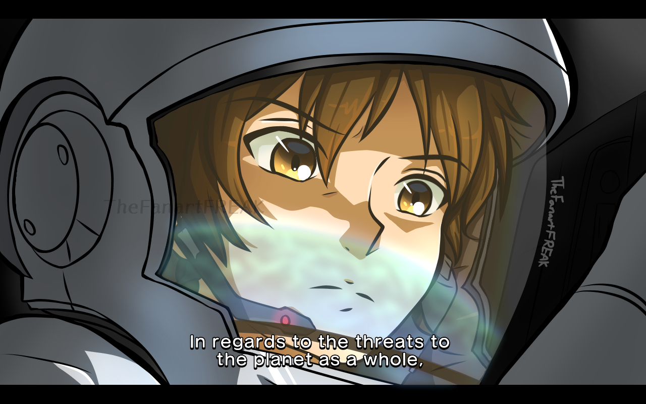 Gundam Unicorn screenshot redraw Illust of TheFanartFREAK medibangpaint space Banagher Unicorn redraw anime GundamUC GUNDAM