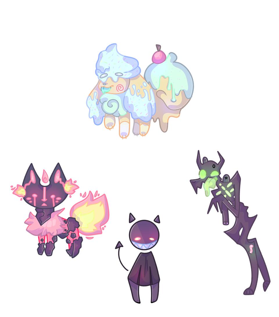 some weird ocs I made