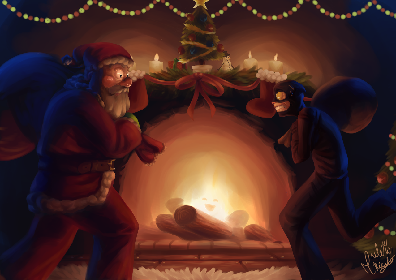 Inesperado Encuentro Illust of Anawello December2020_Contest:Santa medibangpaint