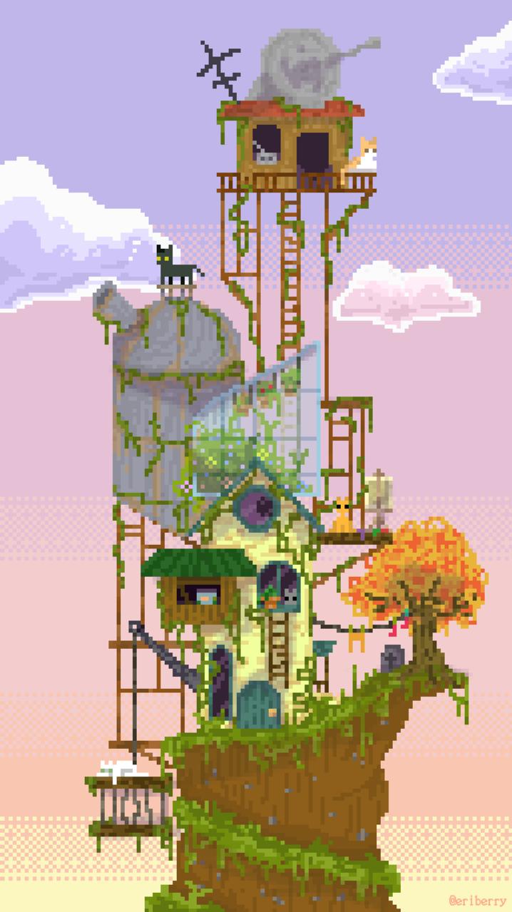 do you live here? Illust of eriberryy pixelart