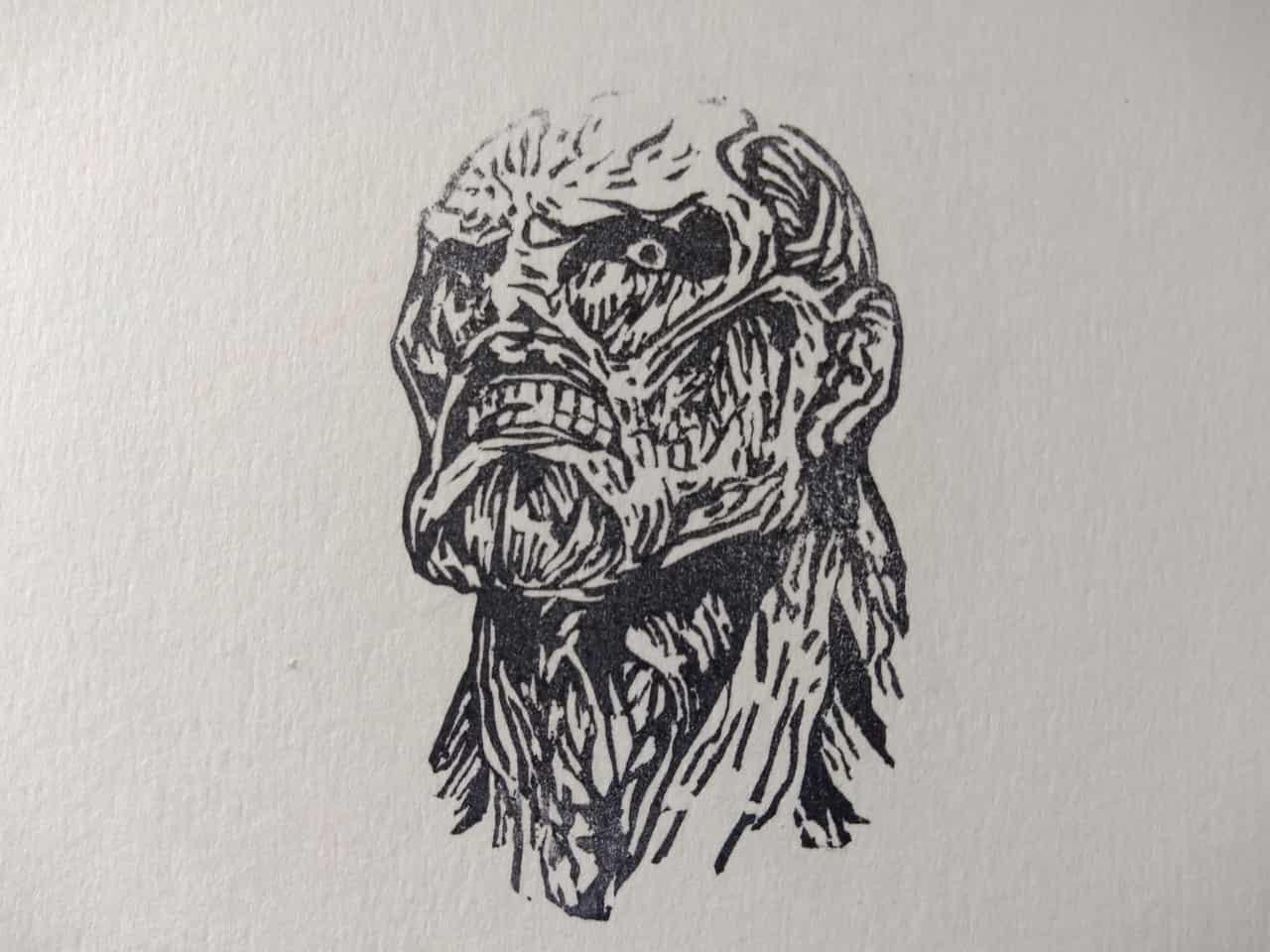 超大型巨人 Illust of アニヲタ第三世代 消しゴムはんこ AttackonTitan 超大型巨人