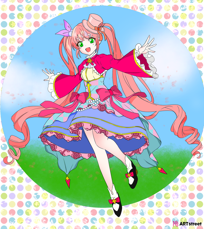 粉毛少女(修改了) Illust of ⚝毛茸茸⚝互关 ColoringContest ponytail girl 粉毛 kawaii 要标签什么呀 可爱(●'◡'●)