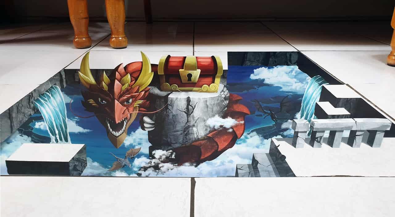 電繪3D藝術(龍之寶藏!!) Illust of 一撇 chibi 龍 scenery original 3D藝術