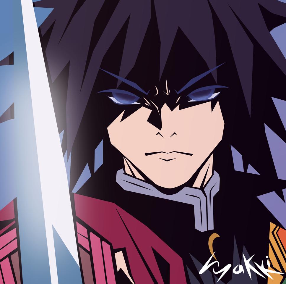 Feel the Rage Illust of hyakki KimetsunoYaiba TomiokaGiyuu