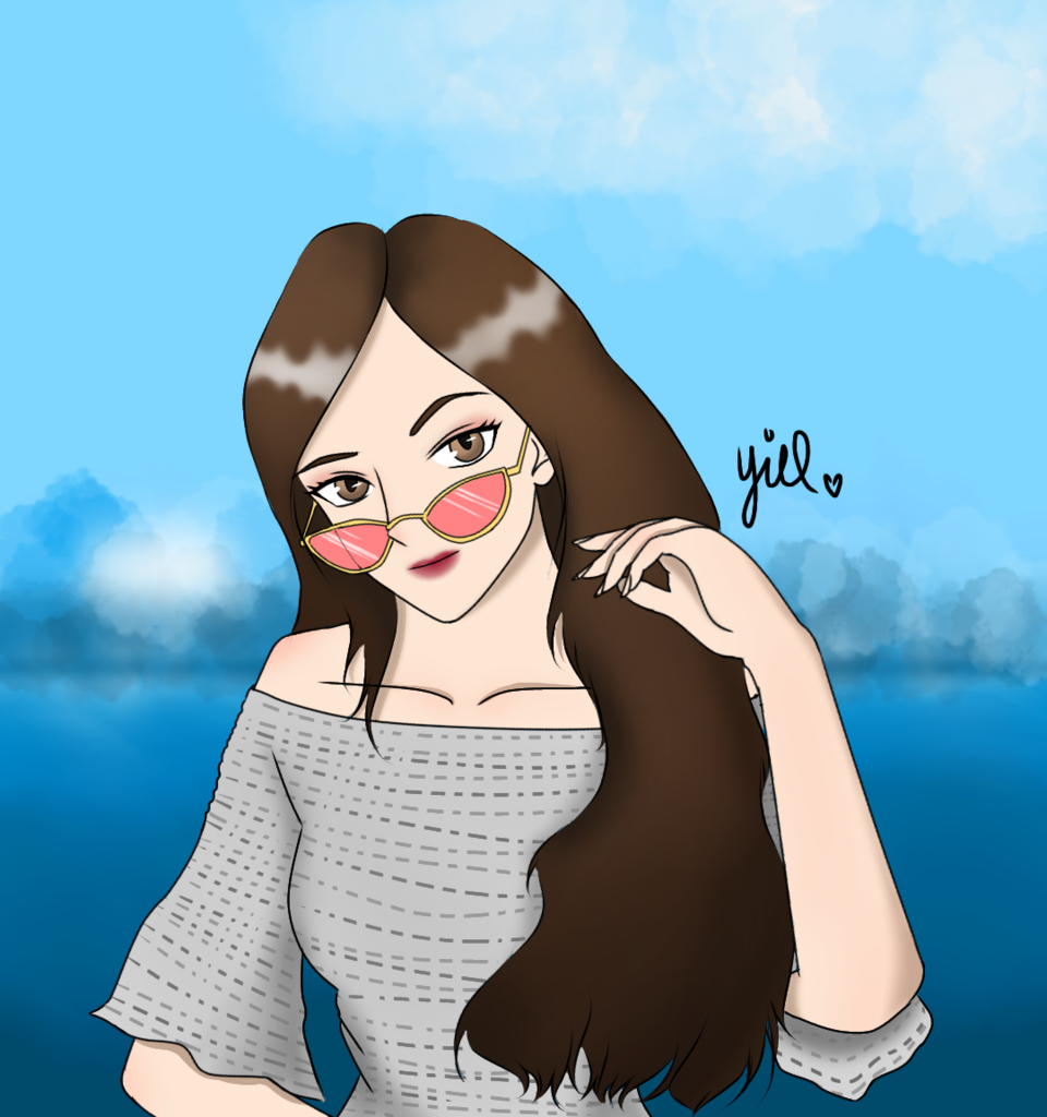 💜 Illust of Yiel femalecharacter oc friend