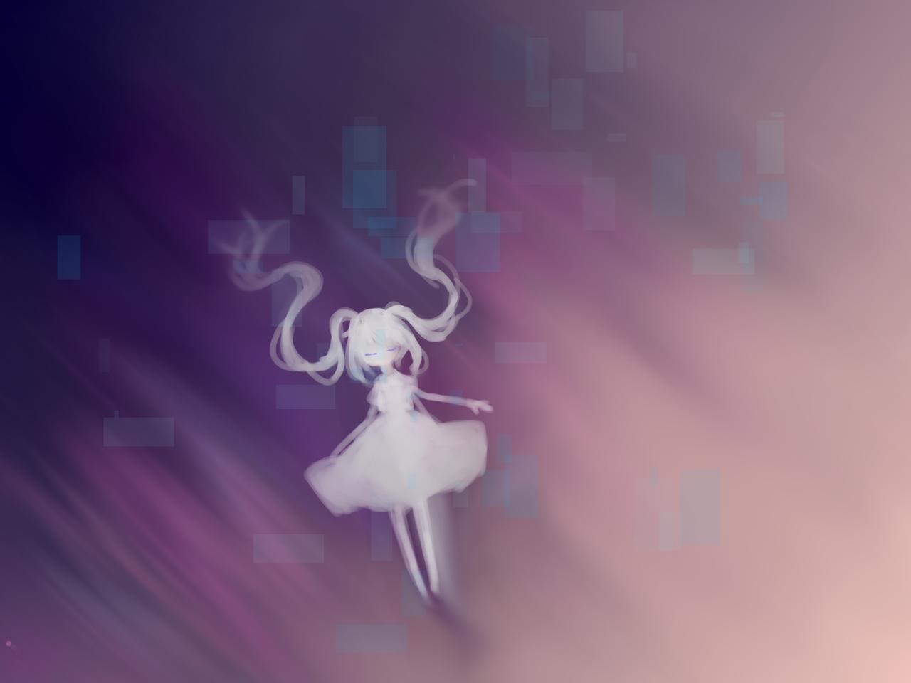 光の果てまで。 Illust of めだまやき#テスト優先期間中 光 angel background oc chibi 闇 白いワンピース kawaii digital