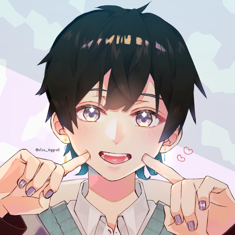 フリーアイコン! Illust of eggroll☆ boy illustration フリーアイコン kawaii original ibispaint icon