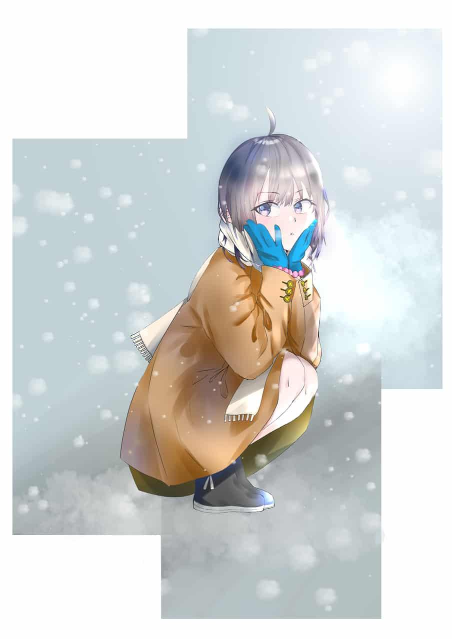 冬の君 Illust of summersky Original_Illustration_Contest art girl oc cute illustration 冬服 digital