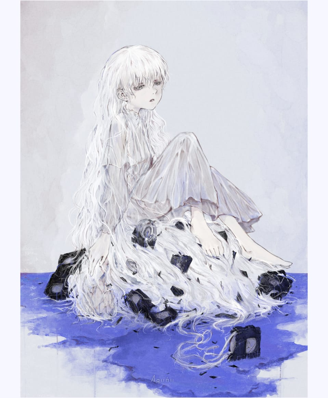 Blue Videotapes Illust of Aqumu