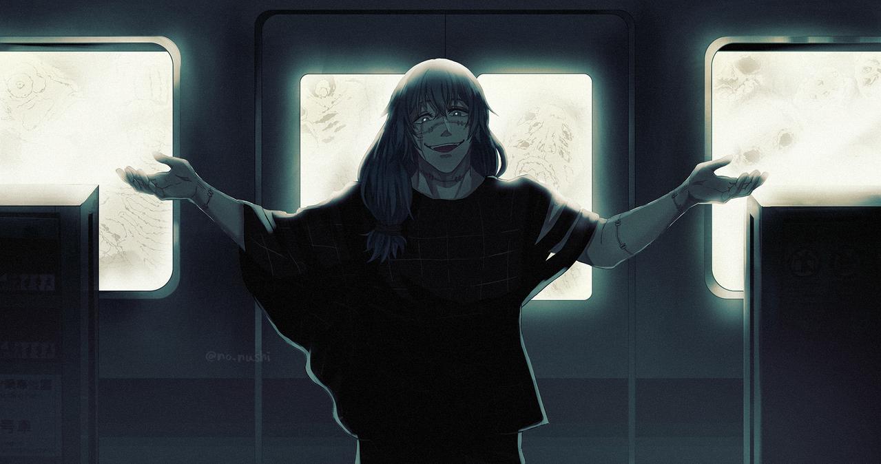 「渋谷行き発車します」 Illust of の主 JujutsuKaisenFanartContest 真人 渋谷事変 JujutsuKaisen