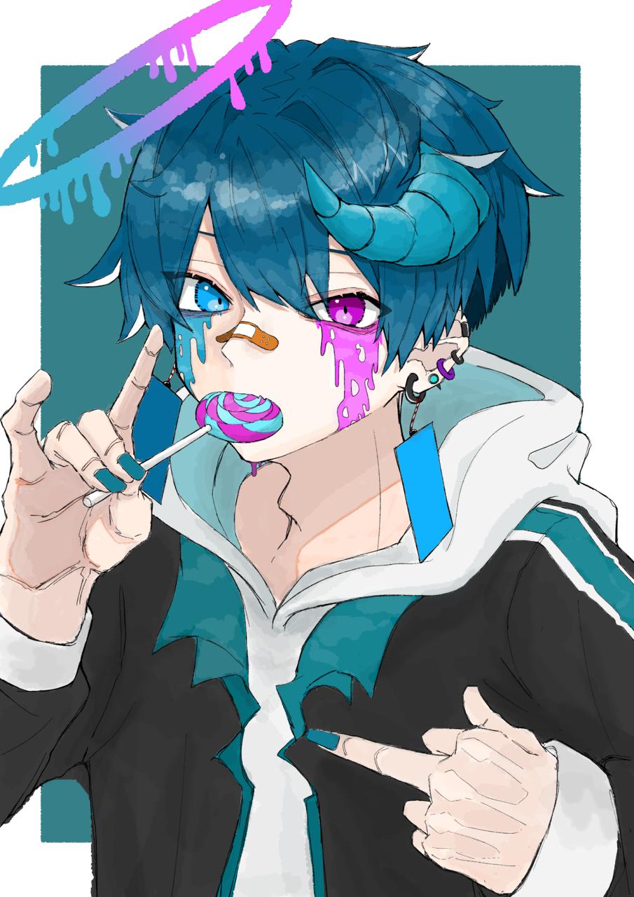 angel...? Illust of をとり medibangpaint blue boy illustration oc