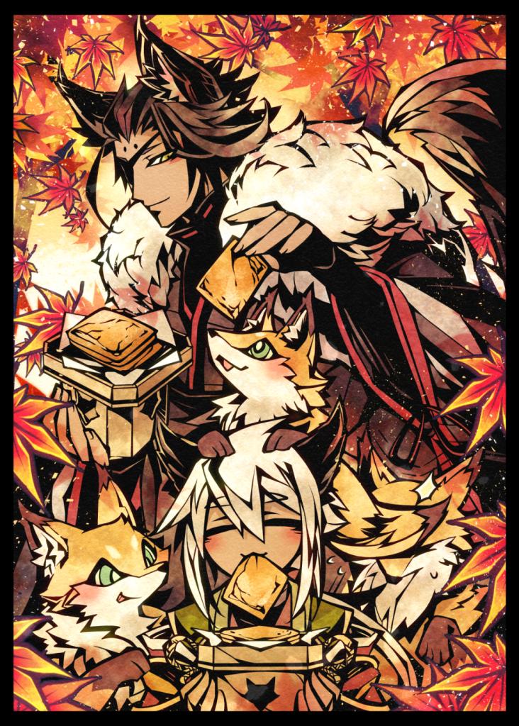 戯景 Illust of 九廸じゃく June2021_Anthropomorphism original Personification モフモフ autumn 紅葉 fox