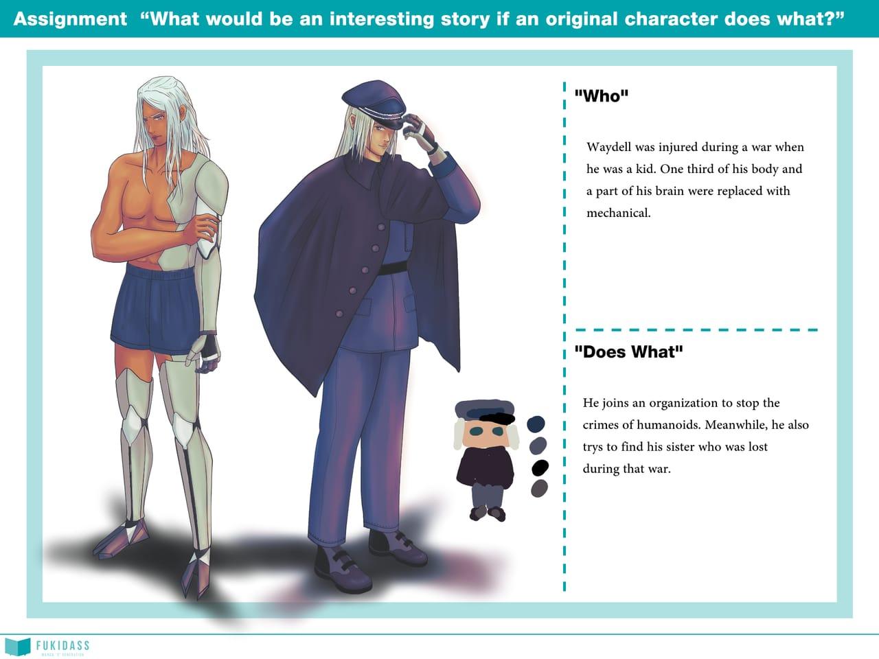 Waydell  Illust of Tea & T Humanoid character characterdesign RealMangaSchool machanic