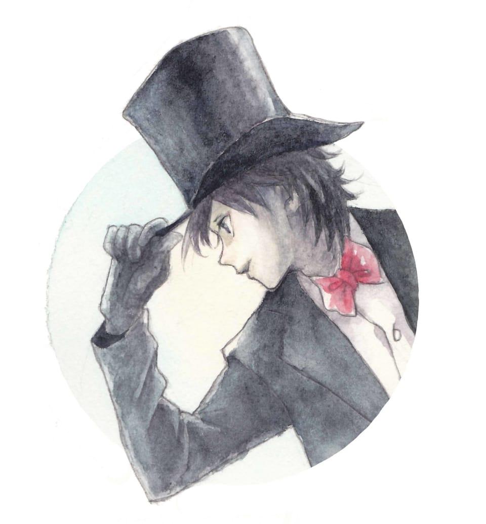 シルクハット Illust of フジカワ ぼうし アナログ watercolor