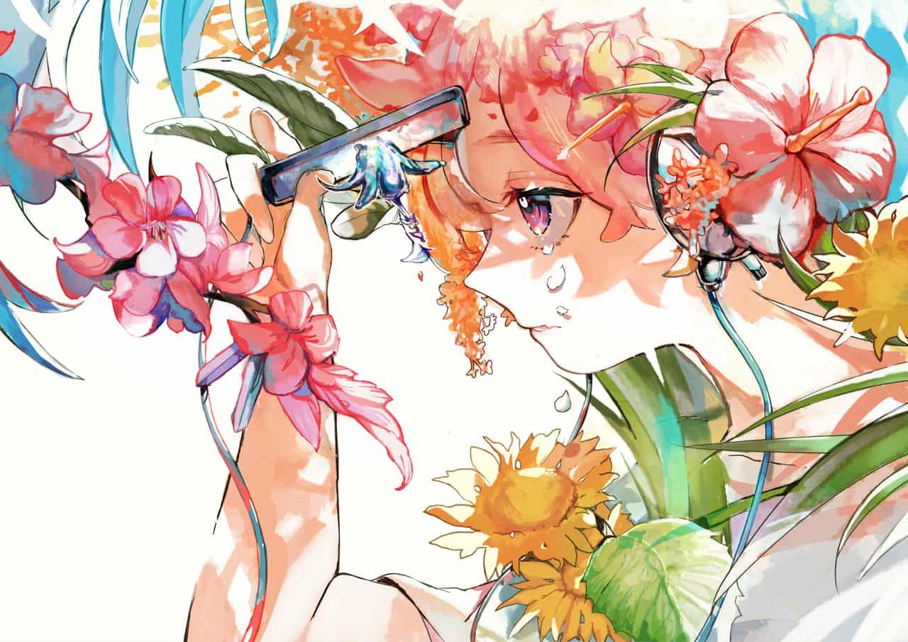 夏顔 Illust of 無味無常 oc illustration flower original