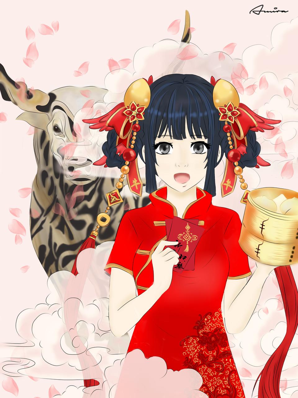春节 2021 Illust of Mira January2021_Contest:OC ox oc Yearoftheox 2021 春节 newyear chinesenewyear