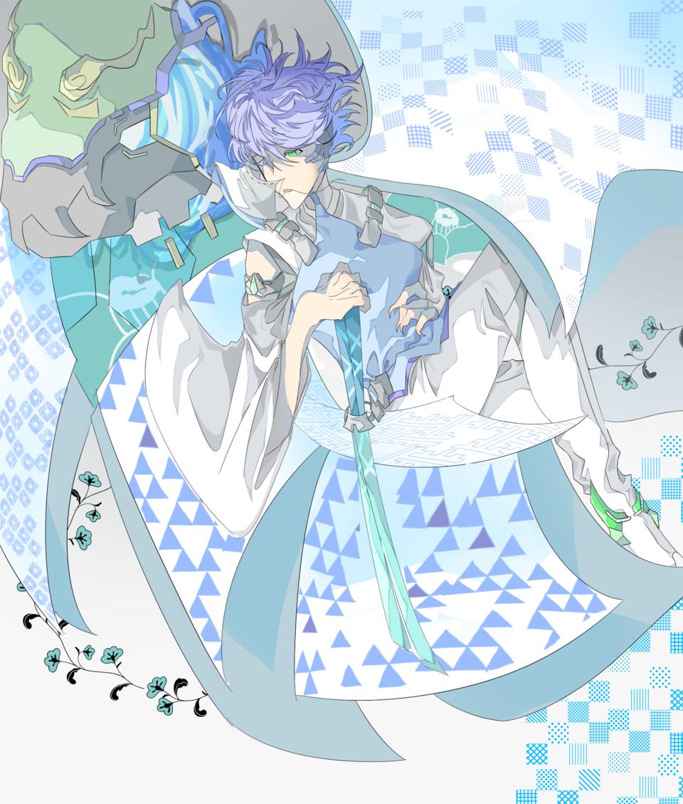 和と機械 Illust of akakuro January2021_Contest:OC 小学生 Japanese_style 布 flower 機械 ロボット 小5 shonen