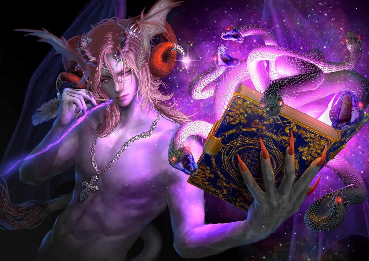 evil Illust of 猫翁 January2021_Contest:OC horn demon oc 人外