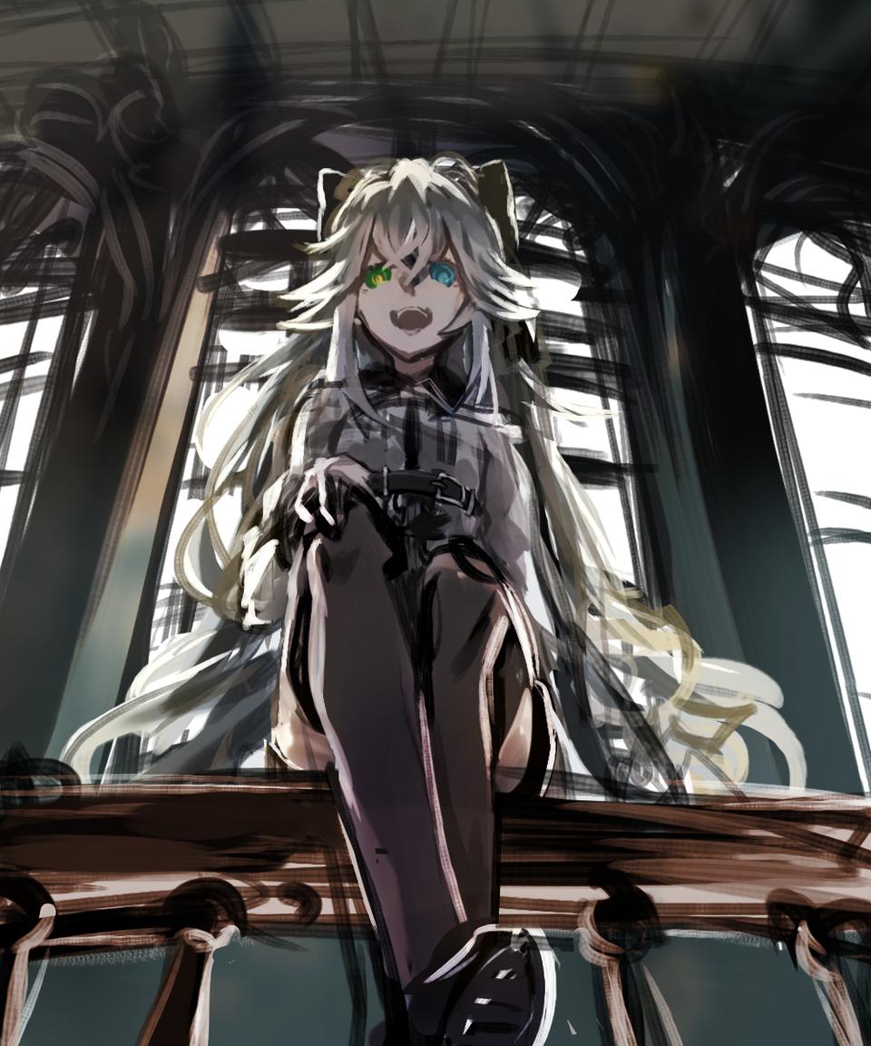Well well well... Illust of Comuno / Ningen❸ medibangpaint original girl 銀髪 オッドアイ oc