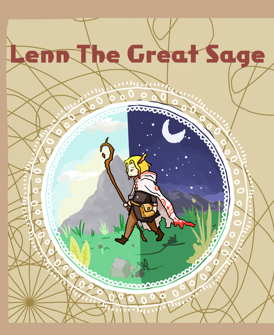 Lenn The Great Sage Cover Illust of Mera Viola medibangpaint